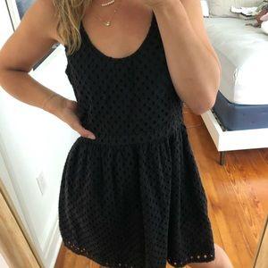 Joie Black Eyelet Dress